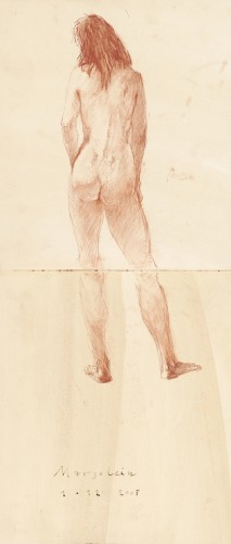 Female nude standing
