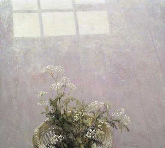 Floor still life with cowparsley